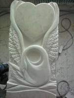 Памятник Лебедь, белый мрамор, Коелга