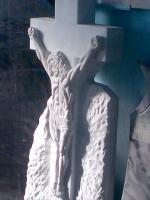 Памятник Распятие, белый мрамор, Коелга